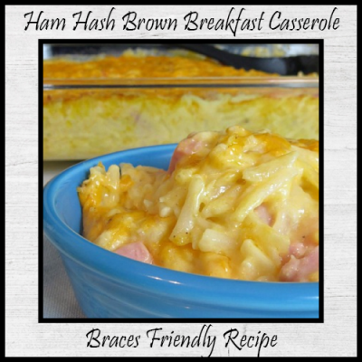 Ham Hash Brown Breakfast Casserole