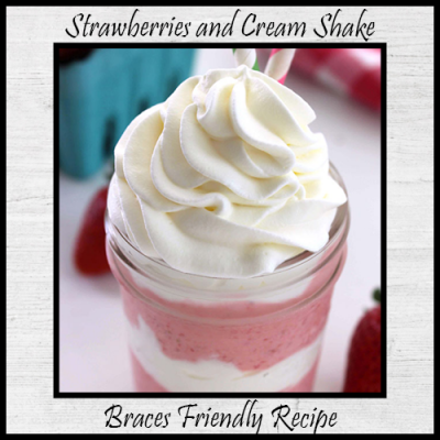 Strawberries and Cream Shake